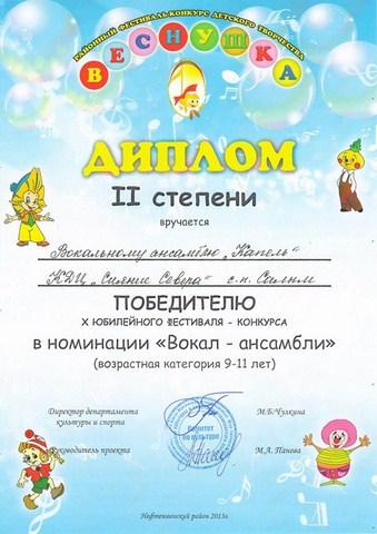 Победители конкурса детского творчества